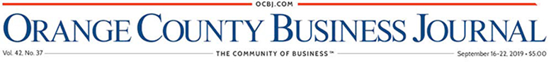 Orange County Business Journal Masthead  September 2019